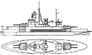 Thai Warship Dhonburi Plan View - Click for hi-res image