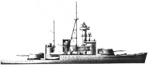 The Thai Warship Dhonburi. Side View. Click for Hi-res image
