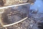 Memorial plack laid by USS Salvor dive team on the USS Lagarto