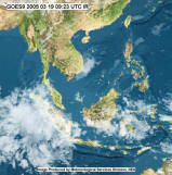 Latest Thailand and South East Asia Satelite imagery - Click to update